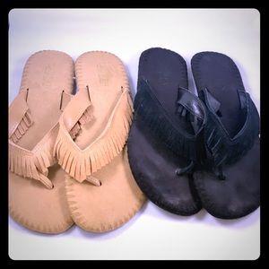Ralph Lauren sandals Sz 8.5 black and cream